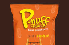 Protein-Rich Peanut Puffs - P-nuff Makes Baked Peanut Snacks That Deliver Complete Vegan Proteins