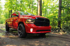 Height-Adjustable Trucks - The Dodge Ram 1500 Night Edition Changes Height with Road Conditions