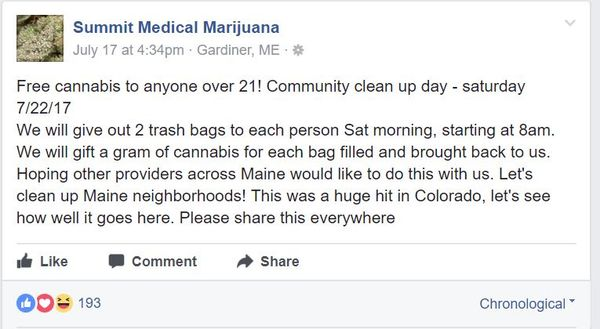Trash Collection Dispensary Promotions : marijuana dispensary