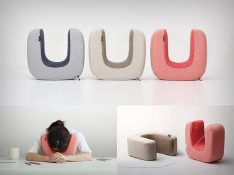 Spontaneous Isolation Pillows - The 'Ototone' Pillow Lets You Rest and Recuperate at Your Desk