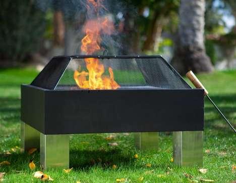 Mod Mirrored Fire Pits