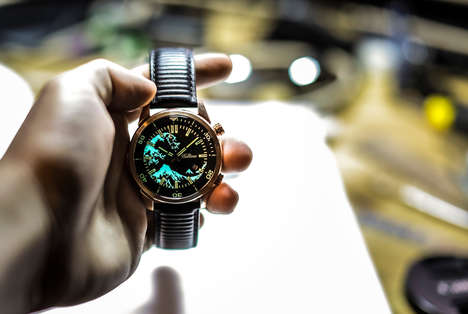 Japanese Artwork Diver Timepieces - The Balticus Automatic Bronze Diver's Watches are Artistic