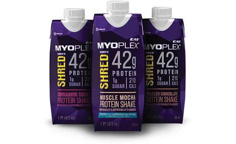 Muscle Recovery Protein Shakes - The EAS Sports Nutrition Myoplex Shred Comes in Two Flavor Options