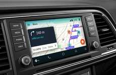 Traffic-Avoiding Car Apps - Waze for Android Auto Brings the App to Your Car's Infotainment System