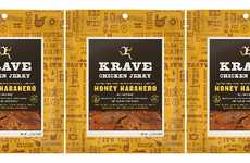 Sweet Heat Chicken Jerkies - The KRAVE Honey Habanero Chicken Jerky is Made with Premium Cuts