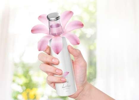 Blooming Beverage Bottles