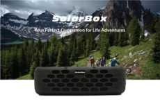 Solar-Powered HiFi Speakers - The 'SolarBox' Waterproof Portable Speaker Has a 60 Hour Battery Life