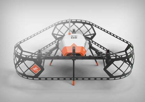 Terrain-Mapping Drones - The Ardea Drone Autonomously Navigates Areas and Has Three Propellers