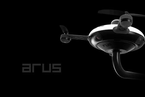 Circular Emergency Response Drones - The ARUS Drone Incorporates a Rounded Design Aesthetic