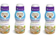 Sweetened Coffee Dairy Mixes - The Organic Valley Sweet Cream Half & Half is Naturally Delicious