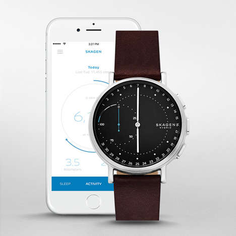 Inexpensive Minimalist Smartwatches - The Skagen Signatur Connected Hybrid Smartwatch is Discreet