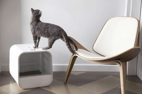 Stylish Litter Box Designs - The Grand PooBox Modern Litter Box Hides Pet Accessories in Plain Sight