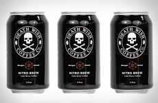 Nitrogen-Infused Canned Coffees - The Death Wish Nitro Brew Coffee is Served without Sugar or Dairy