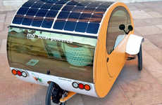 Pedal-Powered Commuter Vehicles - Mö is a Solar-Powered Vehicle That Can Be Pedaled Like a Bike
