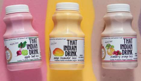 High-Fiber Lassi Drinks - 'That Indian Drink' Delivers a Western Remix on Indian Lassi