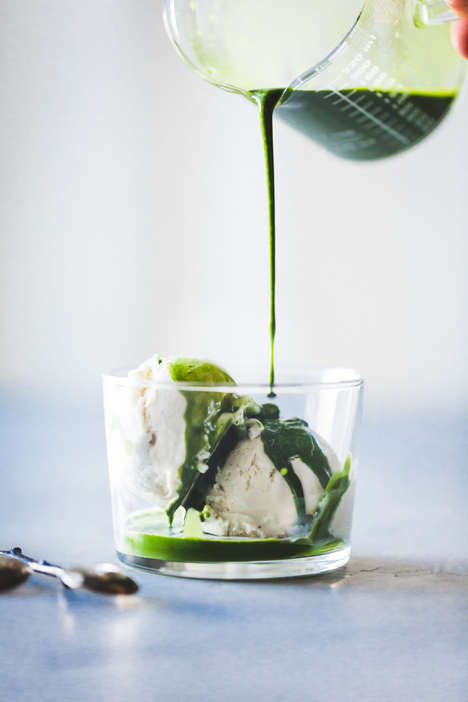 Matcha Affogato Desserts - This Green Tea Float is Infused With Ginger For an Extra Health Kick