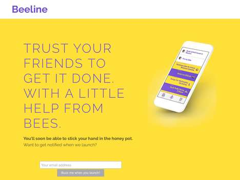 Chore Reminder Apps - The Beeline App Enables You to Give a Friend Tasks and Remind Them Of It