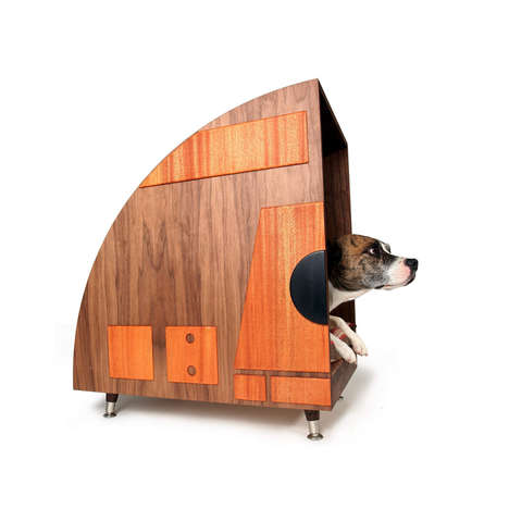 70s-Inspired Dog Houses - This Wooden Dog House Offers Canines a Stylish Outdoor Abode