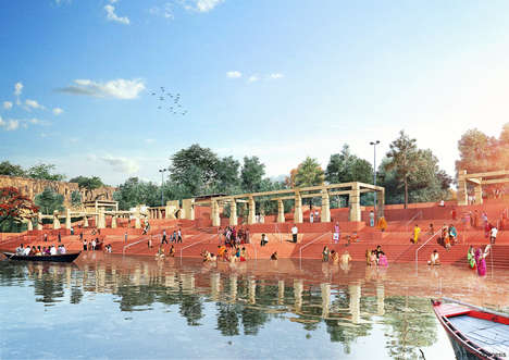 Broad-Spanning River Developments - Morphogenesis' 'A River in Need' Will Rehabilitate the Ganges