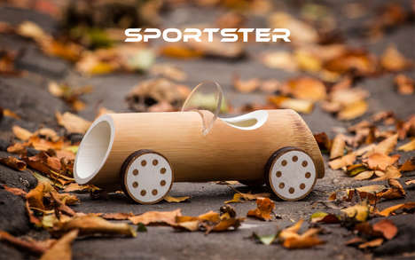 Bamboo Toy Cars - These Eco Toys Made from Bamboo Shoots are Natural, Beautiful and Sustainable