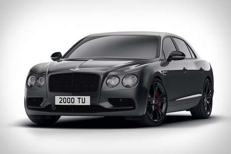 Contemporary Luxury Sedans - The Black Edition of the Bentley Flying Spur V8 S is Strikingly Elegant