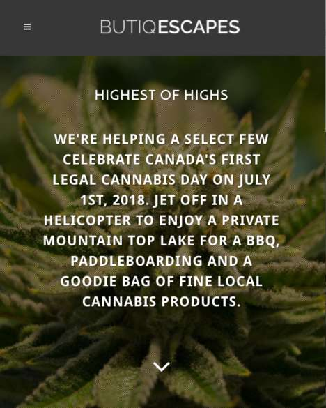 Mountaintop Cannabis Escapes - Butiq Escapes Plans to Help Canadians Celebrate Legalization in Style