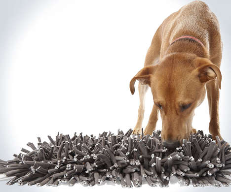 Instinct-Stimulating Pet Mats - The 'Wooly Snuffle' Feeding Mat Has Dogs Sniff Around for Kibble