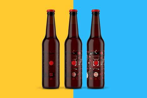 Temperature-Activated Beer Designs - Red Button Brews Reveal a Story-Like Design Once Frozen