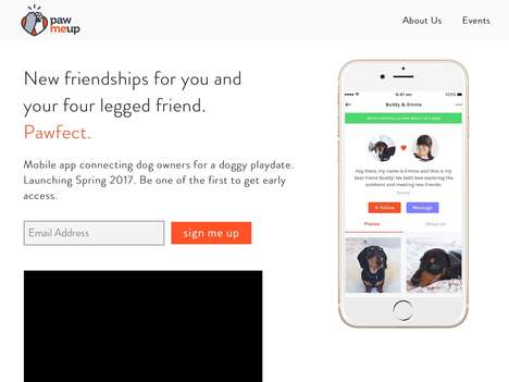 Canine Friendship-Finding Apps - The 'PawMeUp' App Helps Dog Owners Find Play Dates