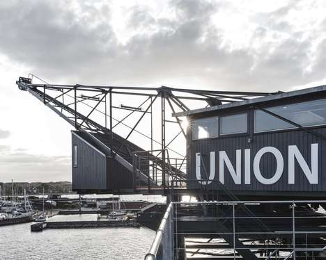 Industrial Crane Hotels - 'The Krane' is a Luxury Private Retreat on the Copenhagen Waterfront