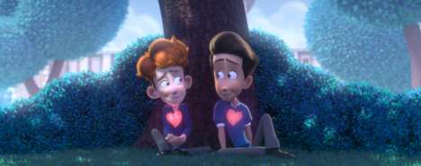 LGBTQ Animated Short Films - In a Heartbeat is an Endearing Short Film About a Boy Coming Out