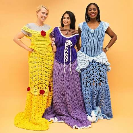 Crochet Princess Blankets - These Knit Blankets Look Like the Dresses of Disney Princesses