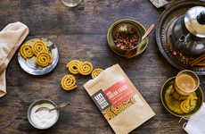 Spiraled Indian Snacks - Uncommon Eats' 'Indian Chakri' is a Shapely, Savory Rice Flour Snack