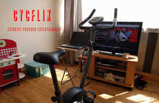 Pedal-Powered Televisions - 'Cycflix' Only Lets You Watch Netflix When Exercising