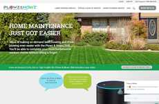 Voice-Ordered Yardcare - 'Plows & Mowz' Orders Yardcare Services Through Amazon Alexa