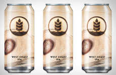 Wooden Knot Beer Branding - The Pure Brewing Knot Murky IPA Has a Natural Can Design