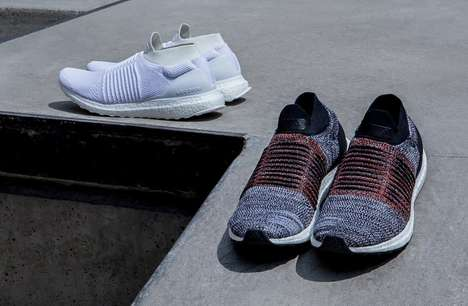 Laceless Snug Support Sneakers - The Adidas Ultraboost Laceless Shoes Have a Knit Upper