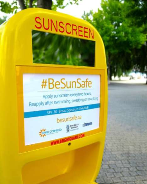 Public Sunscreen Dispensers - Toronto Installed Free Sunscreen Stations in Some of its Parks