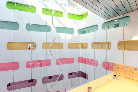 Vibrant Color-Coded Universities - Jussieu University Has Painted Each Floor a Different Pastel