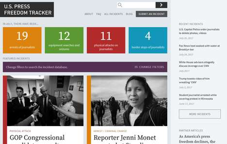 Journalistic Freedom Trackers - The 'US Press Freedom Tracker' Keeps Tabs on Abuse of Journalists
