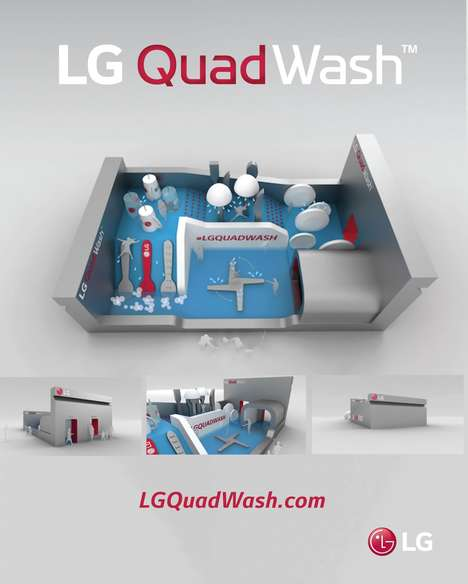 Dishwasher-Inspired Theme Parks - LG's QuadWash Water Park Offers a Unique Way to Beat the Heat