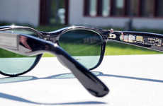 Solar-Powered Sunglasses - Tiny Solar Panels are Fitted onto These Smart Sunglasses
