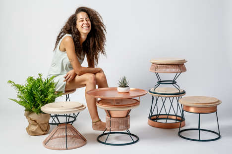 Multifunctional Stackable Seating - Yemenite Stackable Stools Can be Stacked for Easy Storage