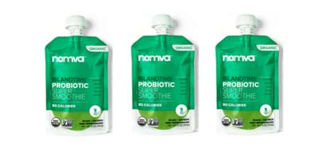 Exotic Probiotic Smoothie Pouches - The NOMVA Island Time Probiotic Smoothies are Nutrient-Dense