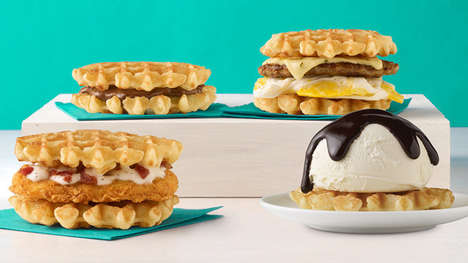 QSR Belgian Waffle Sandwiches