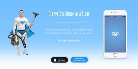 Room-by-Room Home Cleaners - The Zyp App Lets Consumers Order Individual Rooms to be Cleaned