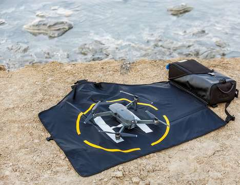 Landing Pad Drone Backpacks - The miggo Agua Storm-Proof Drone Lander 70 Packs Everything You Need