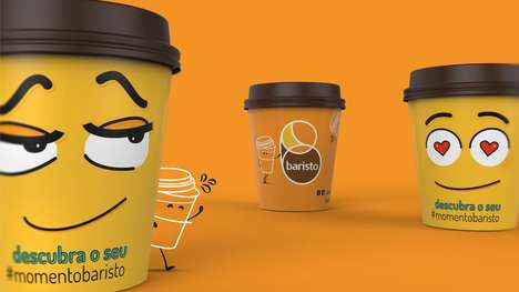Emoticon Beverage Branding - Emoji Coffee Packaging Speaks to Consumers' Morning Moods