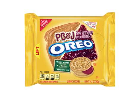 Sandwich-Inspired Cookies - The New PB&J Oreos Turn a Childhood Staple into a Tasty Snack Food