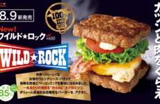 Meaty Beef Patty Buns - Wendy's New Wild Rock Burger Features a Pair of Square Beef Patties for Buns